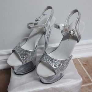 Shoes - Sexy Silver Stillettoes!